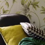 Обои для стен Zoffany Trade Routes FLOWERING TREE GREEN WALLPAPER WITH CHAIR